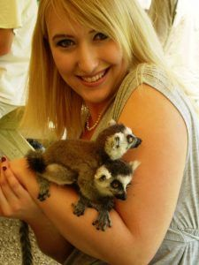 Having fun with baby lemurs in Michigan's U.P.!