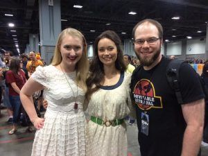 Nerding out with Summer Glau and my husband at a con!