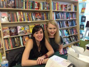 With a favorite author, Maggie Stiefvater